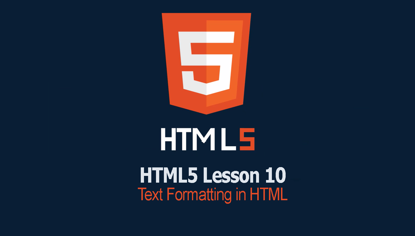Text Formatting in HTML | Lesson 10 HTML Tutorial
