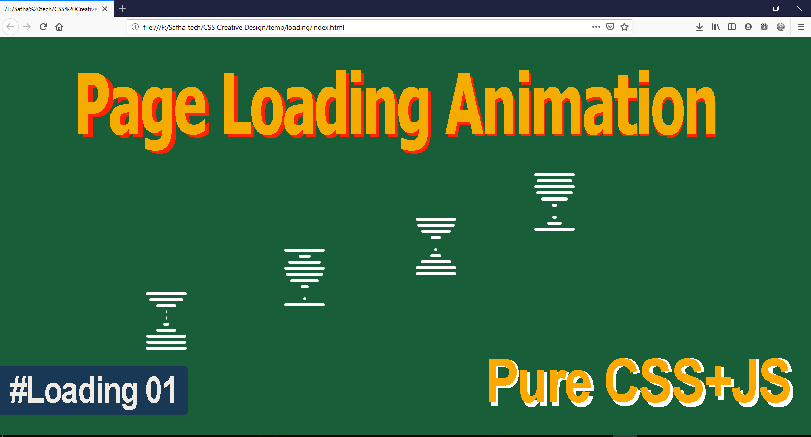 How to Create a Vertical Waving Loading Page? | Loading page