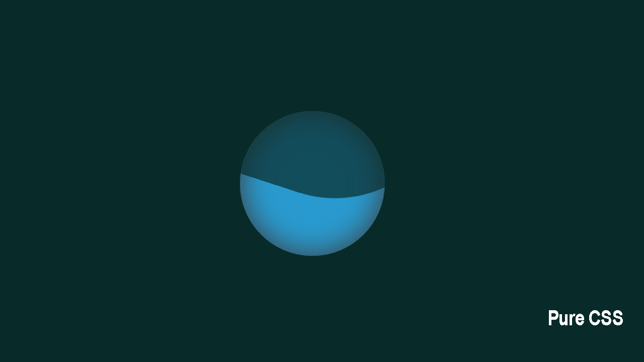 How to Create a Filling Water as Loading Background? | Pure CSS