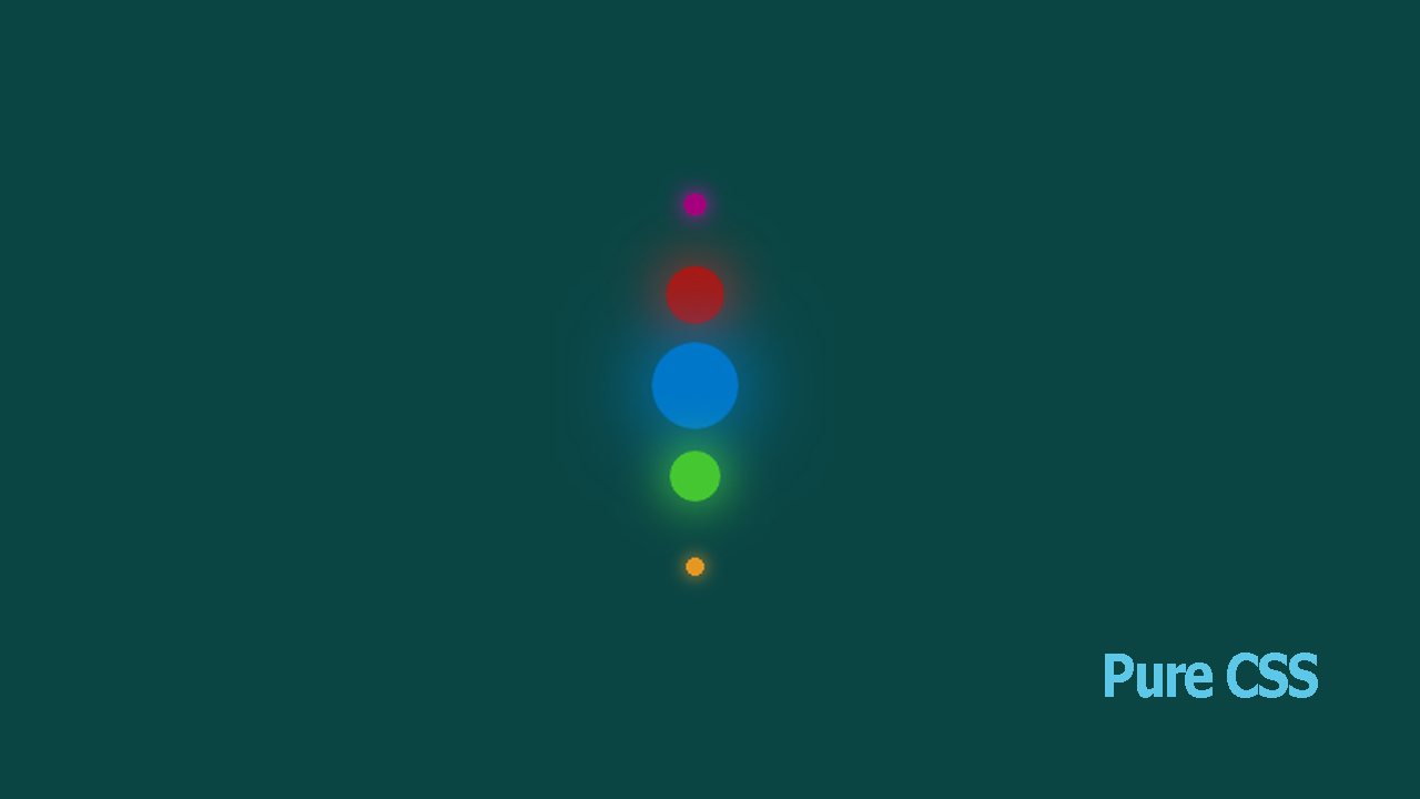 Making a Vertical Animated Circles as Loading Page